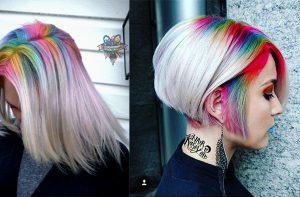 Raízes arco-íris? Uma forma de atualizar um penteado!